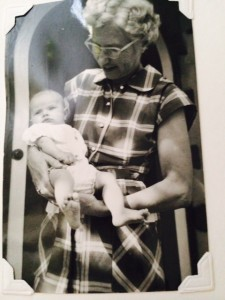 Grandma and me. A long time ago.