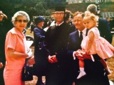 Grandma Myrtle, Grandpa Fred, Daddy and me, the day he graduated from college.