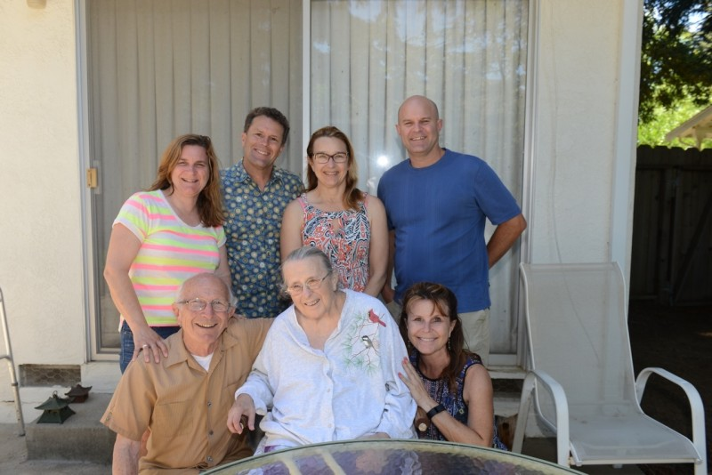 Mama, Daddy, and the five of us, 18 days before she died.