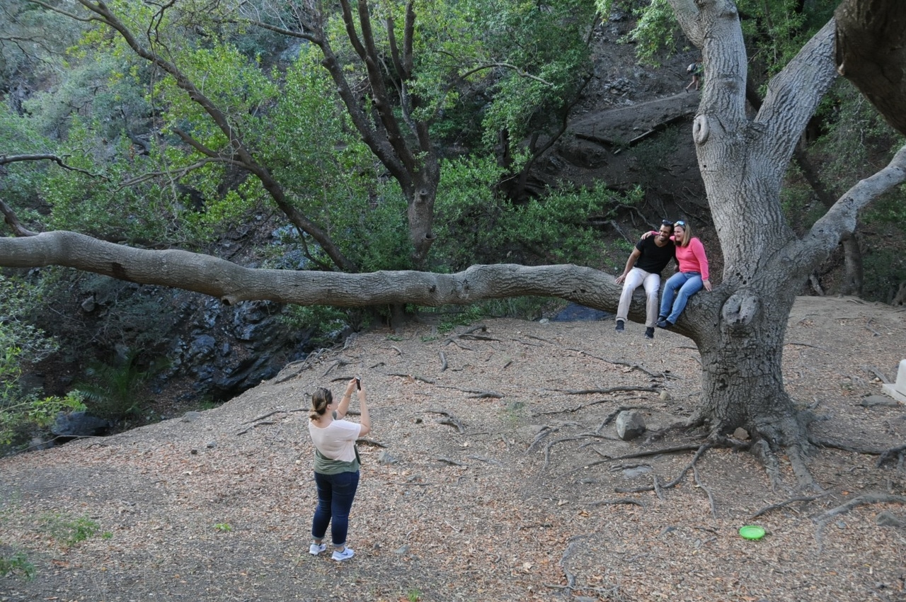 bikini wax chronicles a blog by karen ray page 9 photography on reservoir canyon trail on saturday sabrina and devin in tree jessamyn as