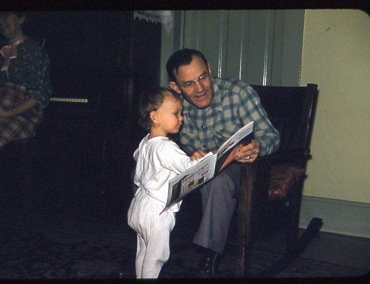 Grandpa Fred reading to me....many moons ago.